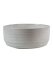 HomArt Large Liam Ceramic Bowl - White Glaze