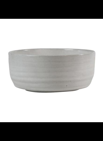 HomArt Medium Liam Ceramic Bowl - White Glaze