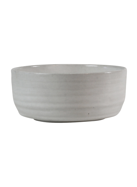 HomArt Small Liam Ceramic Bowl - White Glaze