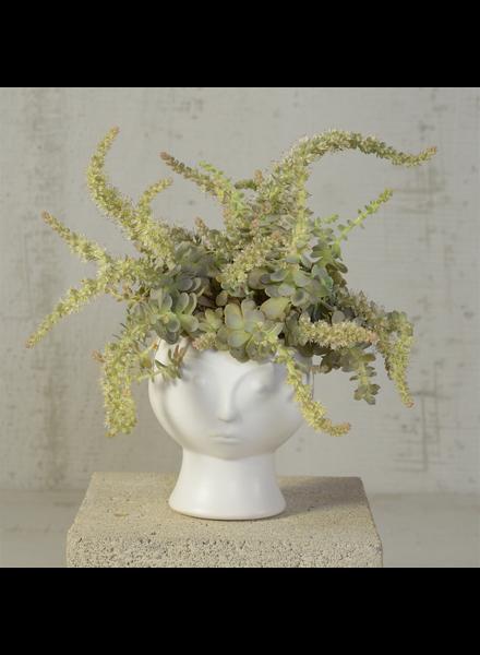 HomArt Rory Ceramic Face Vase - Matte White