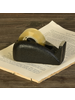HomArt Drew Rounded Tape Dispenser, Cast Iron, Black - Black