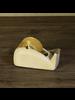 HomArt Drew Rounded Tape Dispenser, Cast Iron, White - White