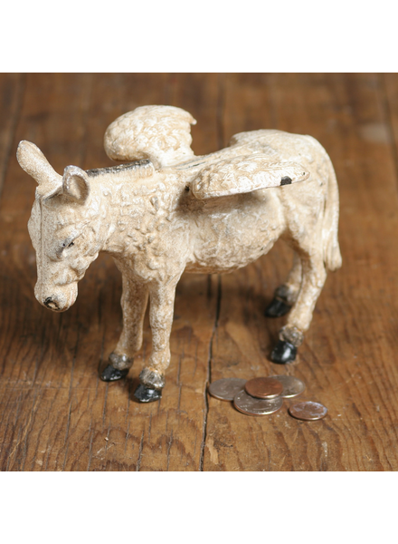 HomArt Donkey with Wings - Cast Iron - White