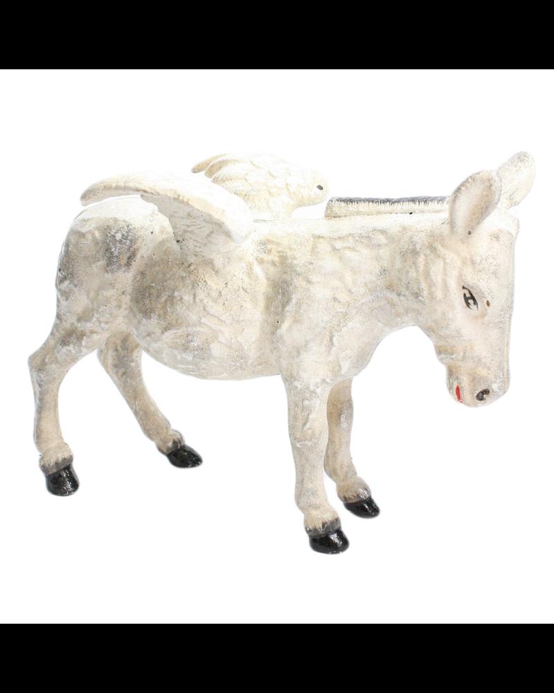 HomArt Donkey with Wings - Cast Iron - White