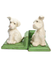 HomArt White Puppy Bookends - Cast Iron White