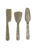 HomArt Ibsen Cheese Tools, Silver - Set of 3 - Antique Silver