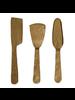 HomArt Ibsen Cheese Tools, Brass - Set of 3 - Antique Brass