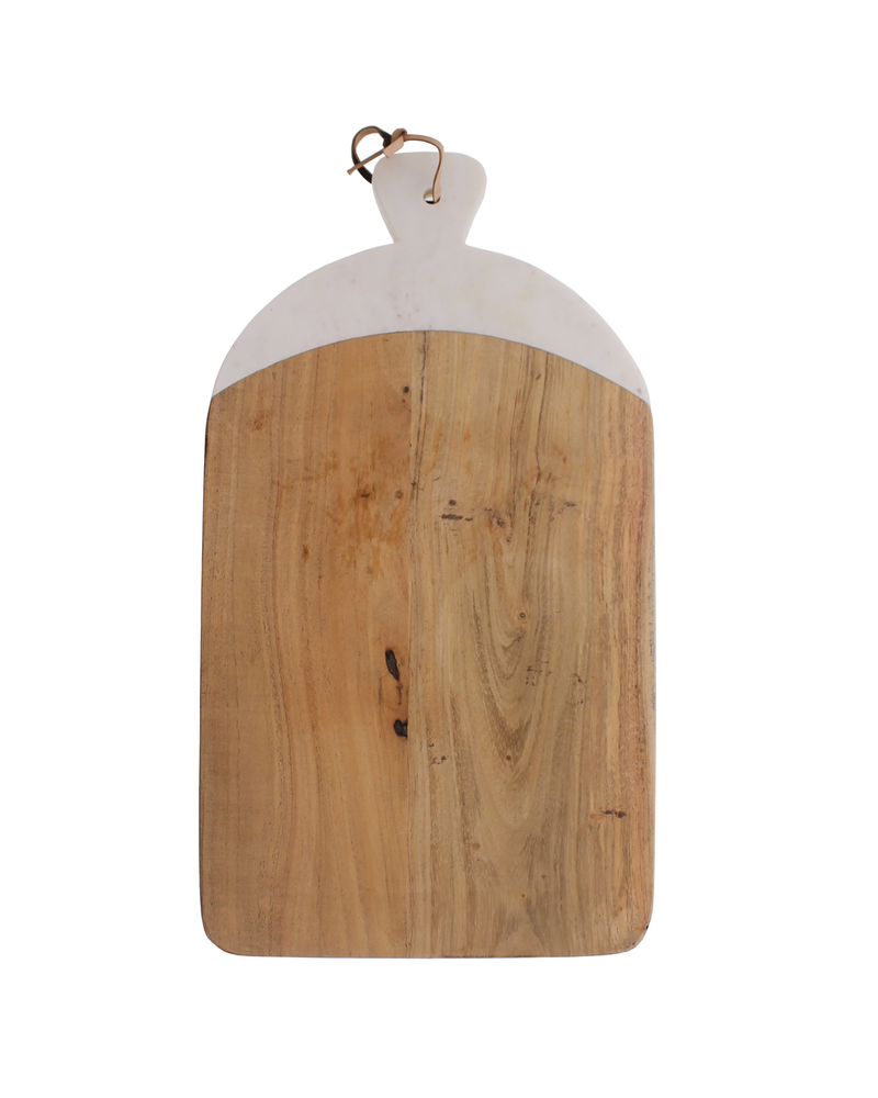 HomArt Mercer Cutting Board, Wood & Marble - Rectangle