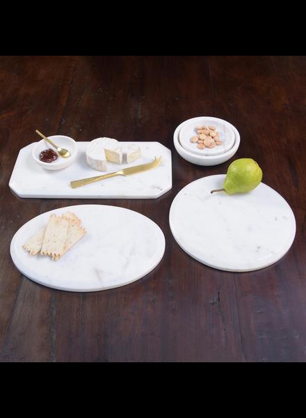 HomArt Mercer Cheese Board, Marble - Oval