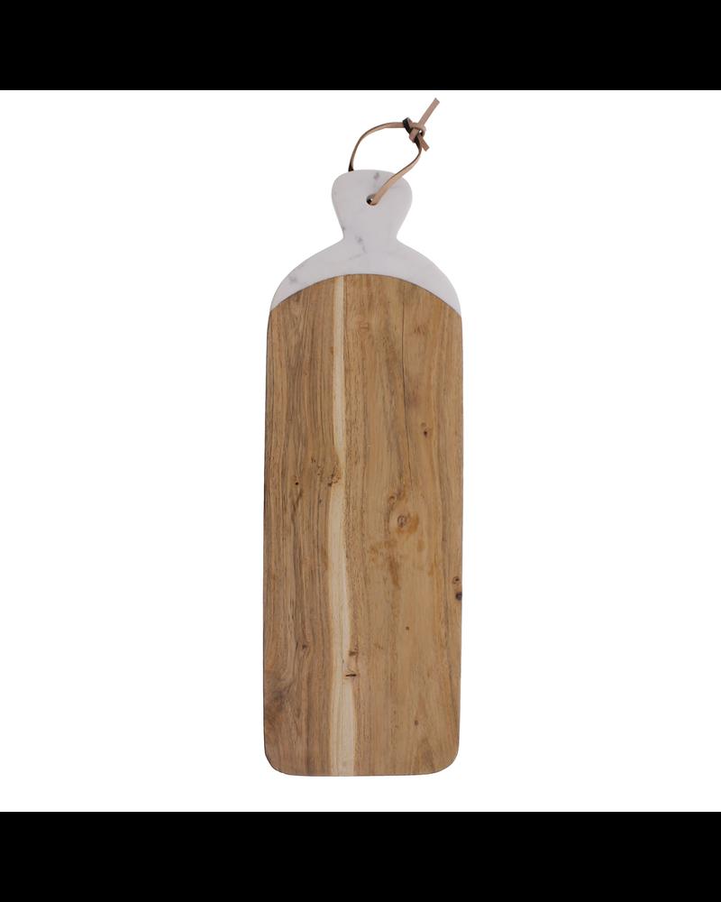 HomArt Mercer Cutting Board, Wood & Marble - Long