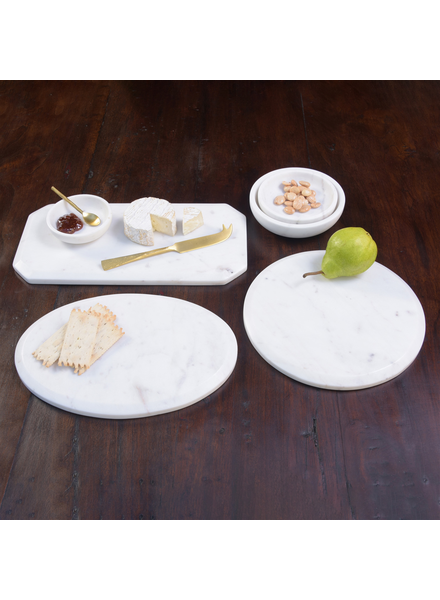 HomArt Mercer Cheese Board, Marble - Round