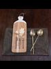 HomArt Hendrix Canape Spoon, Brass - Antique Brass