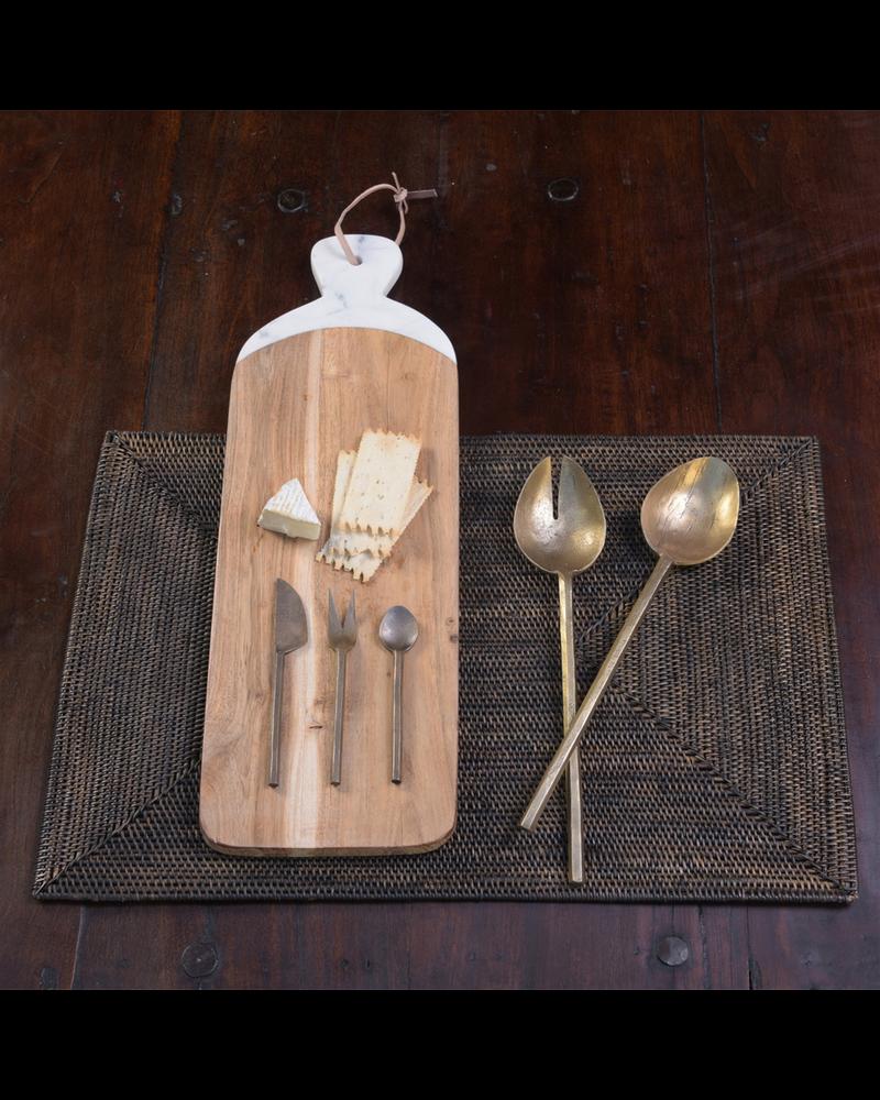 HomArt Hendrix Canape Fork, Brass - Antique Brass