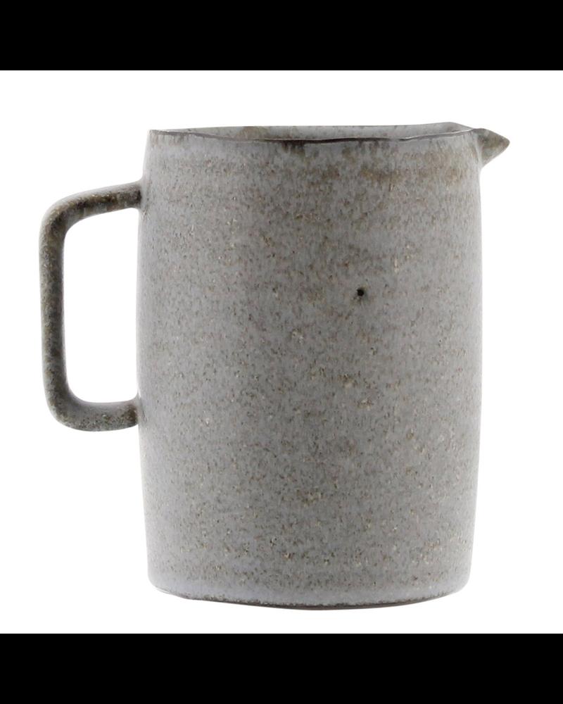 HomArt Tiburon Pitcher, Ceramic - Med - Light Grey Glaze