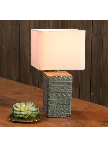 HomArt Skylar Table Lamp, Ceramic - Square, Sm