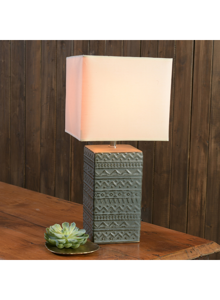 HomArt Skylar Table Lamp, Ceramic - Square, Lrg