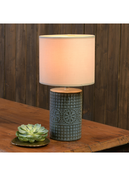 HomArt Skylar Table Lamp, Ceramic - Round, Sm