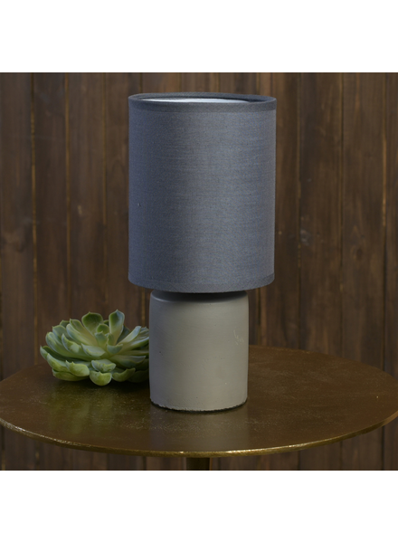 HomArt Nano Table Lamp, Cement - Dark Grey
