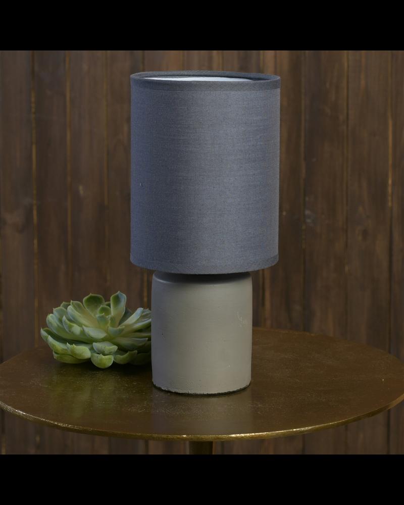 HomArt Nano Table Lamp, Cement - Dark Grey