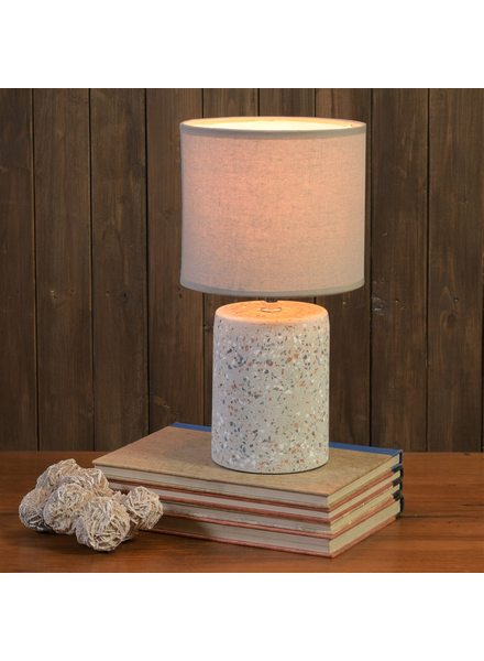 HomArt Terra Table Lamp, Terrazzo, Light Grey - Sm