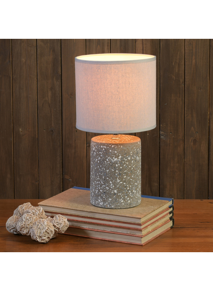 HomArt Terra Table Lamp, Terrazzo, Dark Grey - Sm