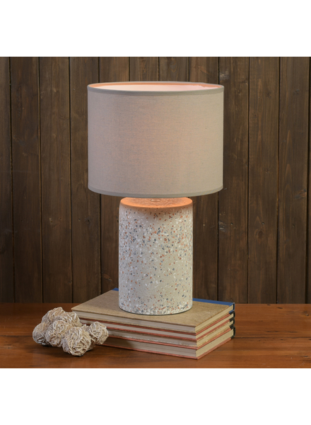 HomArt Terra Table Lamp, Terrazzo, Light Grey - Lrg