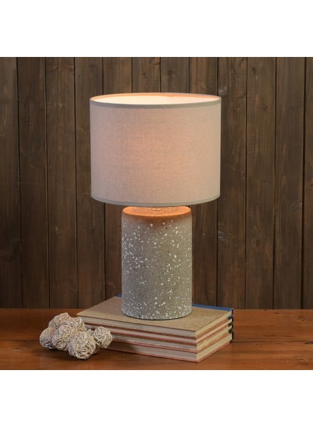 HomArt Terra Table Lamp, Terrazzo, Dark Grey - Lrg