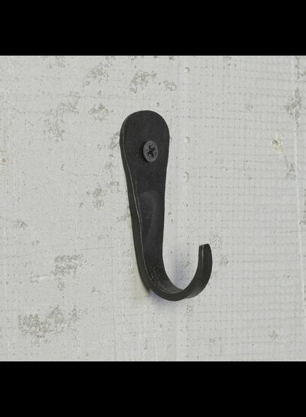 HomArt Forged Hook, Iron - Black - Set of 2