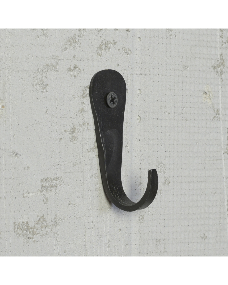 HomArt Forged Hook, Iron - Black - Set of 2