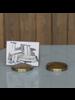 HomArt Chiseled Place Card Holder, Brass - Disk - Set of 2