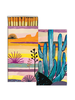 HomArt Blue Cactus HomArt Matches - Set of 3 Boxes