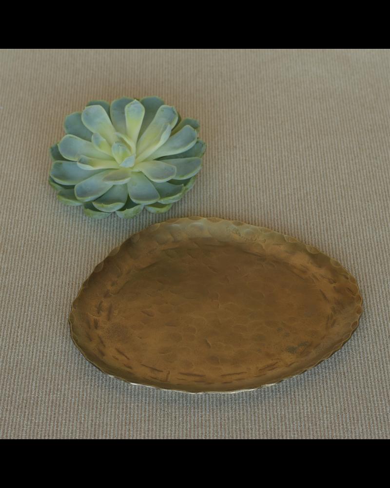 HomArt Fika Organic Brass Plate - Med