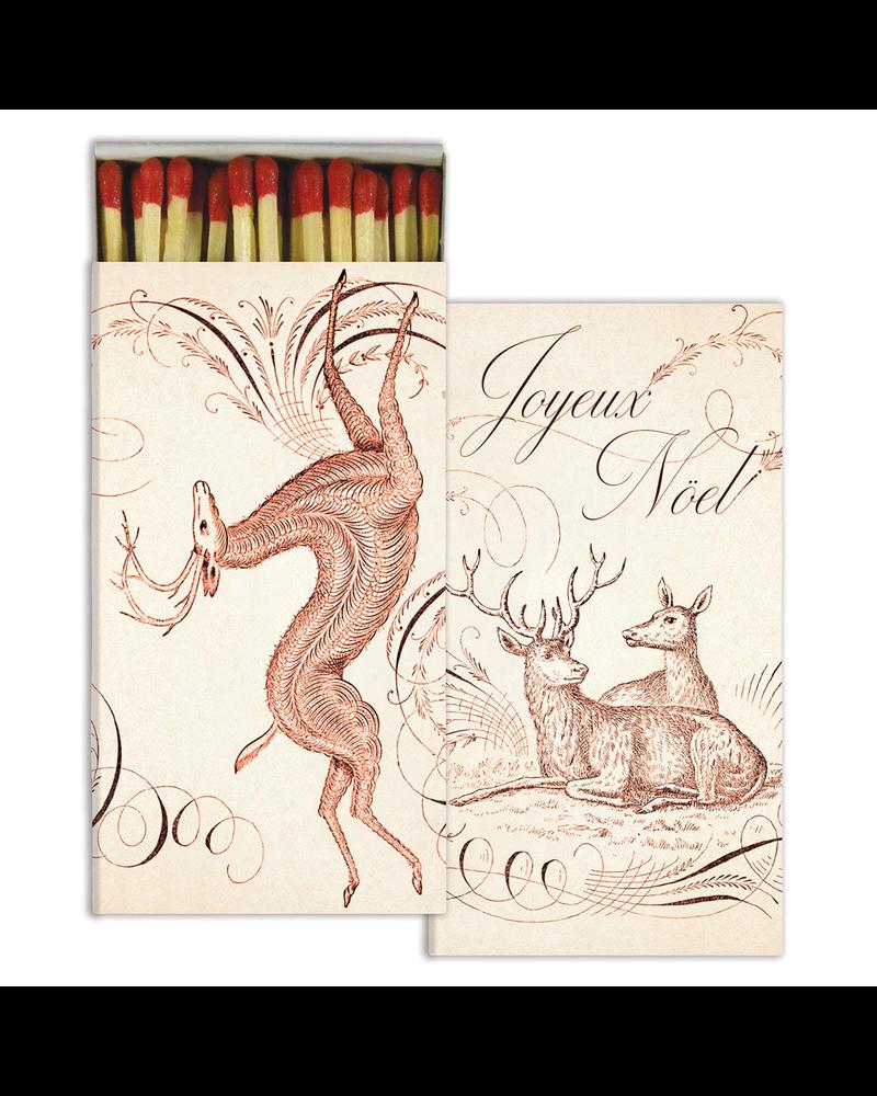 HomArt Calligraphy Noel HomArt Matches - Set of 3 Boxes