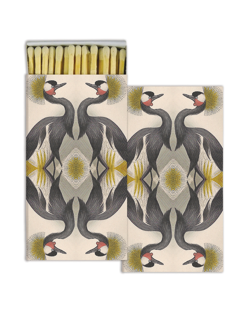 HomArt Crested Cranes HomArt Matches - Set of 3 Boxes