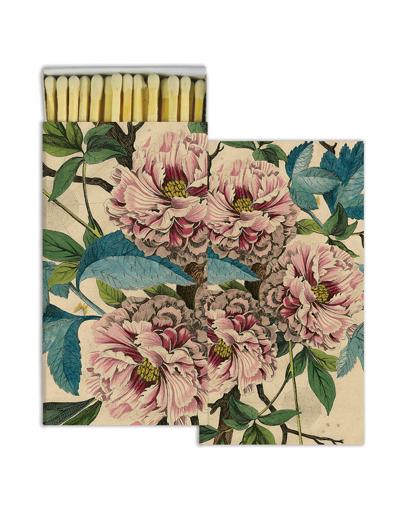 HomArt French Peony HomArt Matches - Set of 3 Boxes