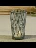 HomArt Jax Mosaic Tealight Holder, Glass - Lrg