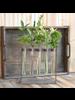 HomArt Mirabelle Quintuple Tube Vase, Wood, Iron & Glass