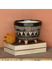 HomArt Apache Print Bowl, Ceramic - Lrg - Black & Natural