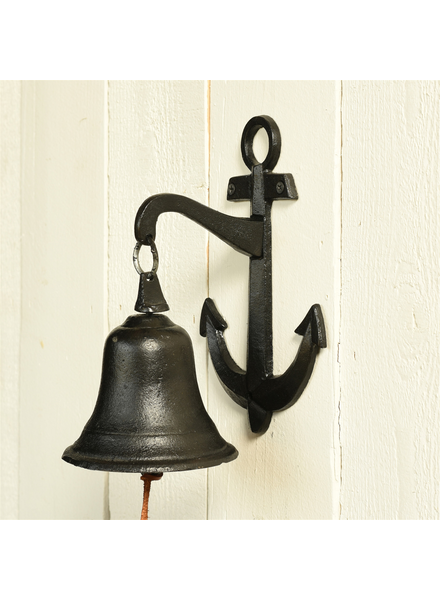 HomArt Anchor Wall Bell, Cast Iron - Black