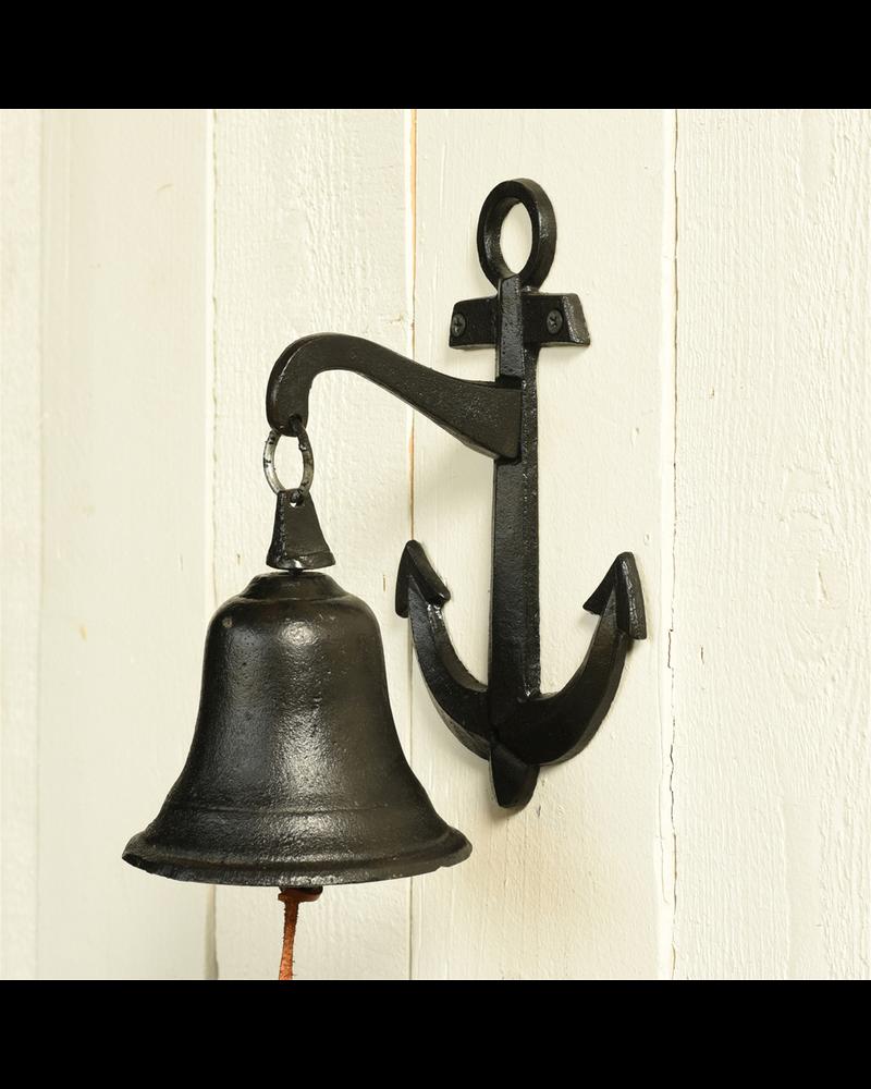 HomArt Anchor Wall Bell, Cast Iron - Black