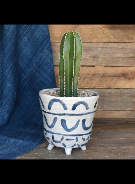HomArt Granada Painted Bowl, Ceramic - Lrg - Blue & White