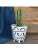 HomArt Granada Painted Bowl, Ceramic - Lrg - Blue & White
