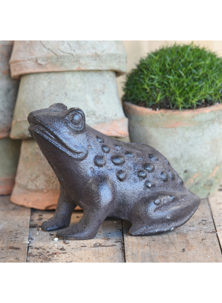 HomArt Garden Frog, Cast Iron - Brown