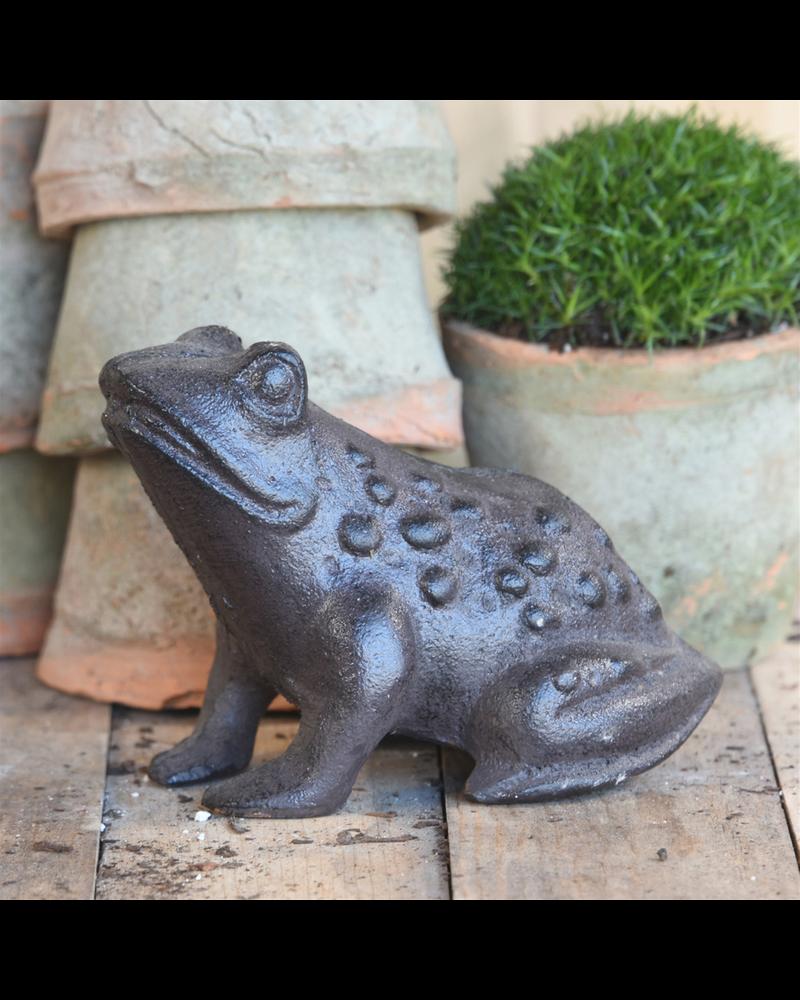 HomArt Garden Frog, Cast Iron - Brown