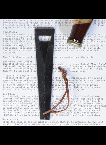 HomArt Black Cast Iron Wedge Bottle Opener - Set of 2