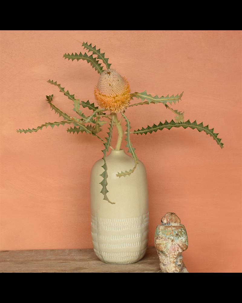 HomArt Marin Vase, Ceramic - Lrg - Light Beige