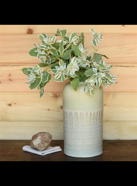 HomArt Kina Vase, Ceramic - Green