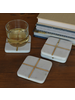 HomArt Aperture Coaster, Marble & Brass - Square, Set of 4