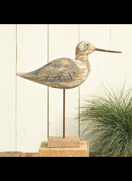 HomArt Kelso Wood Seagull - Sandpiper - Navy & Natural Wood