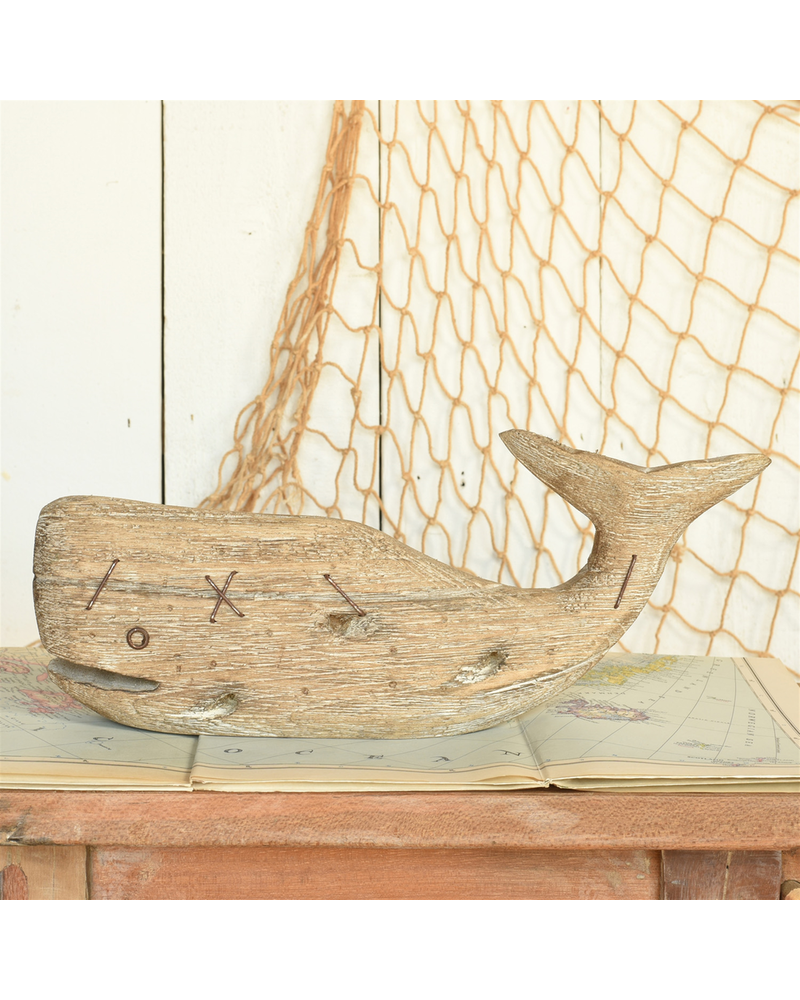 HomArt Kelso Wood Sperm Whale - Sm - Natural Wood